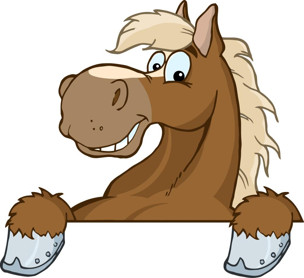 Cartoon horse head clipart