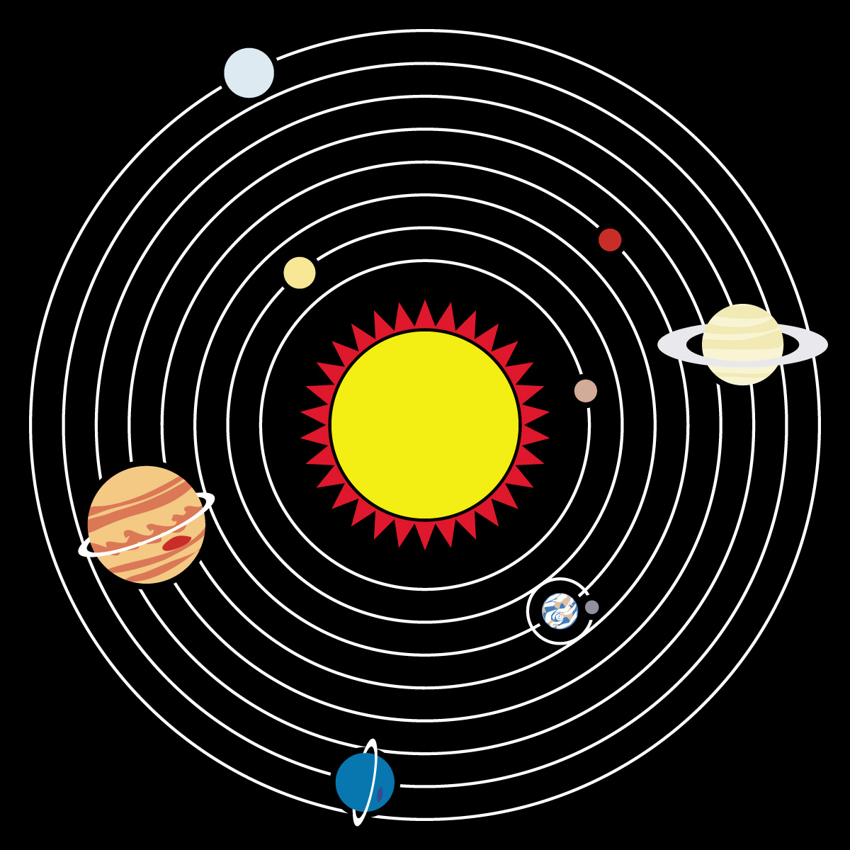 Clip art solar system color abcteach