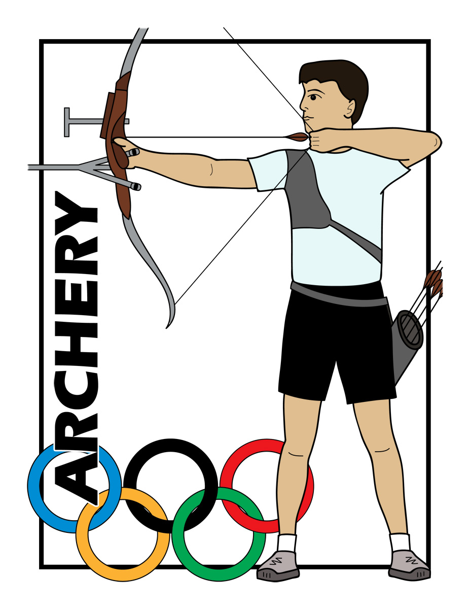Clipart images of olympic archery clipartfest