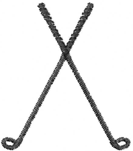 Crossed golf clubs cliparts 2