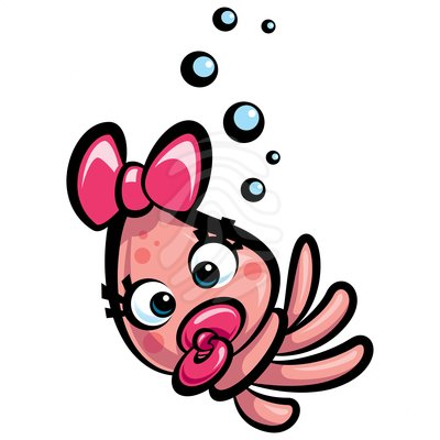 Cute squid clipart