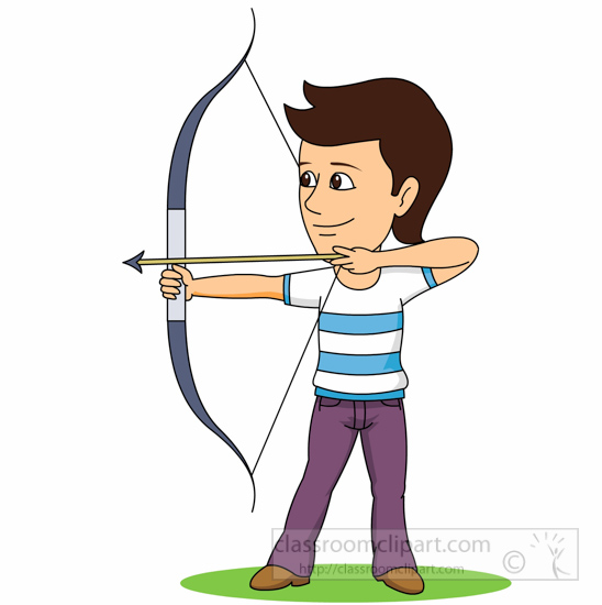 Girl archery clipart clipartfest