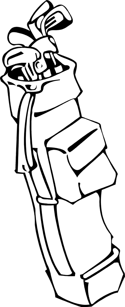 Golf club golf bag clipart 2