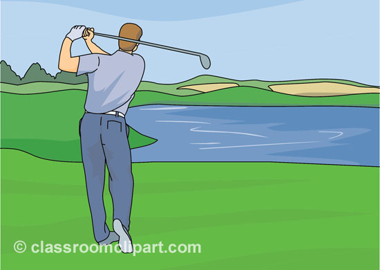 Golf club golf course clipart 3