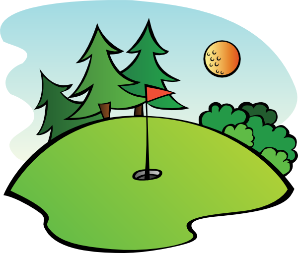 Golf club golf course clipart