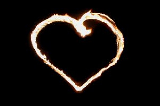 Heart with flames flaming heart vectors photos and psd files free download cliparts