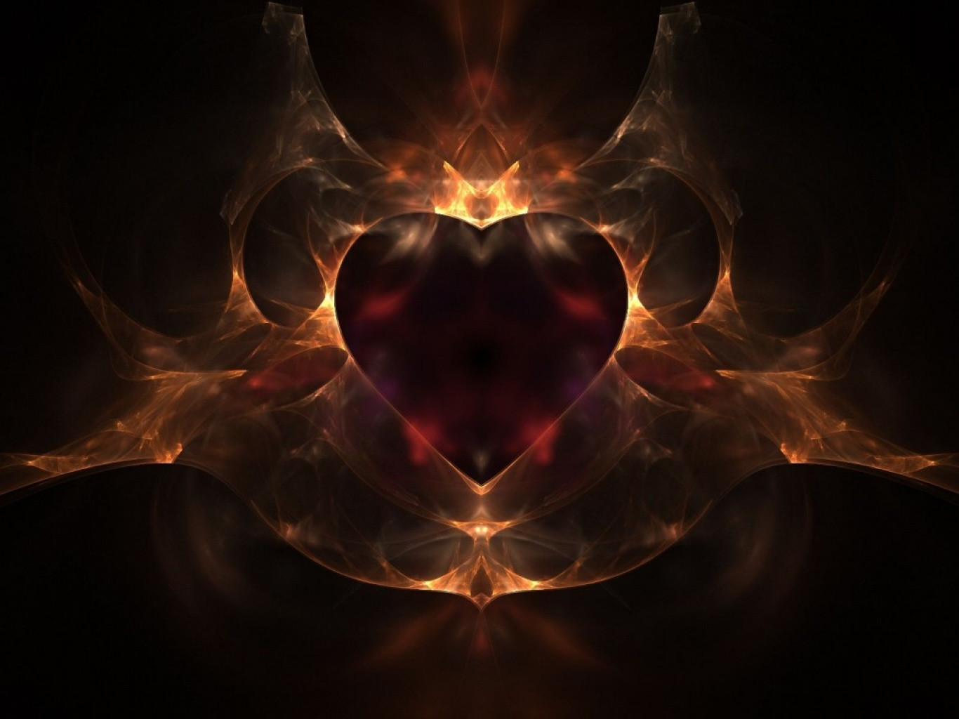 Heart with flames heart on fire black dark flames love red hearts cliparts