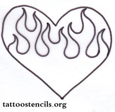 Heart with flames hearts on fire blue flaming rose heart picture by chuck2 clipart