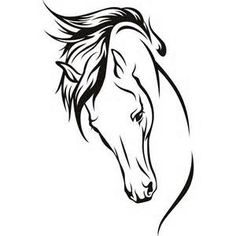 Horse head clip art bing images kaitlyn tattoo ideas