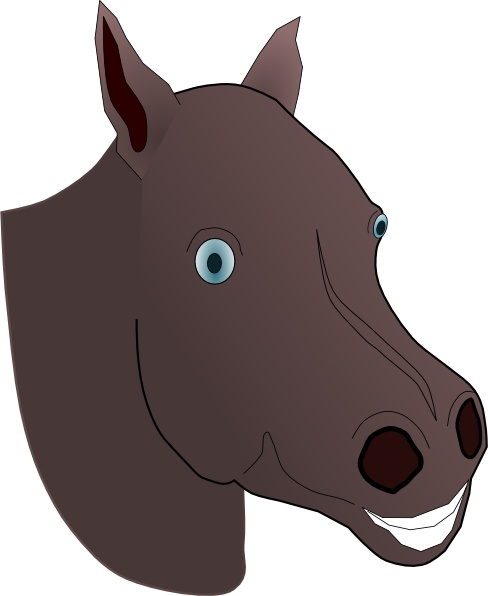 Horse head clip art free vector in open office drawing svg 4