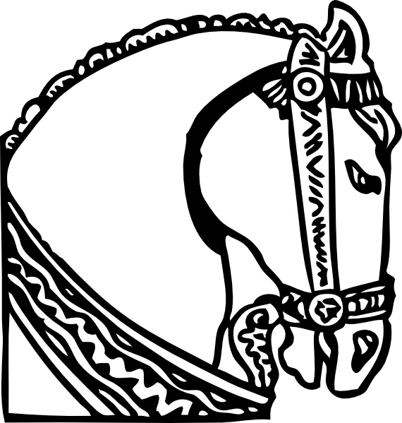Horse head clip art free vector in open office drawing svg 5