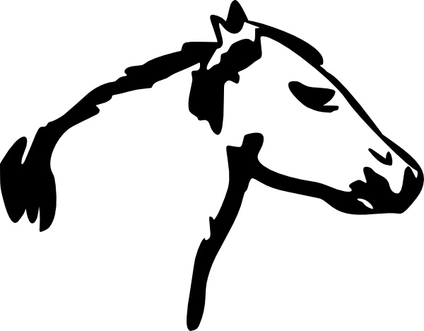 Horse head clip art free vector in open office drawing svg 6