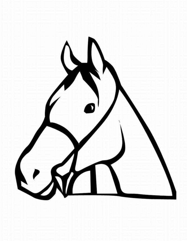 Horse head clipart