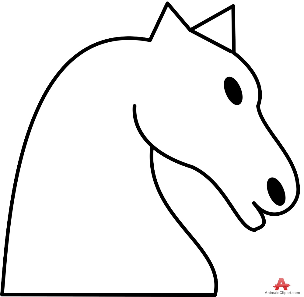 Horse head horse piece head clipart free design download