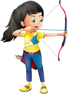 Kids archery clipart clipartfest 2