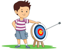 Kids archery clipart clipartfest