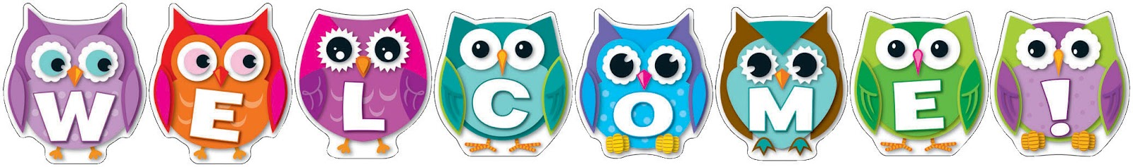 Owl welcome back clipart