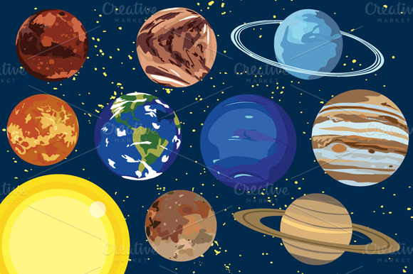 Solar system clip art the cliparts 2