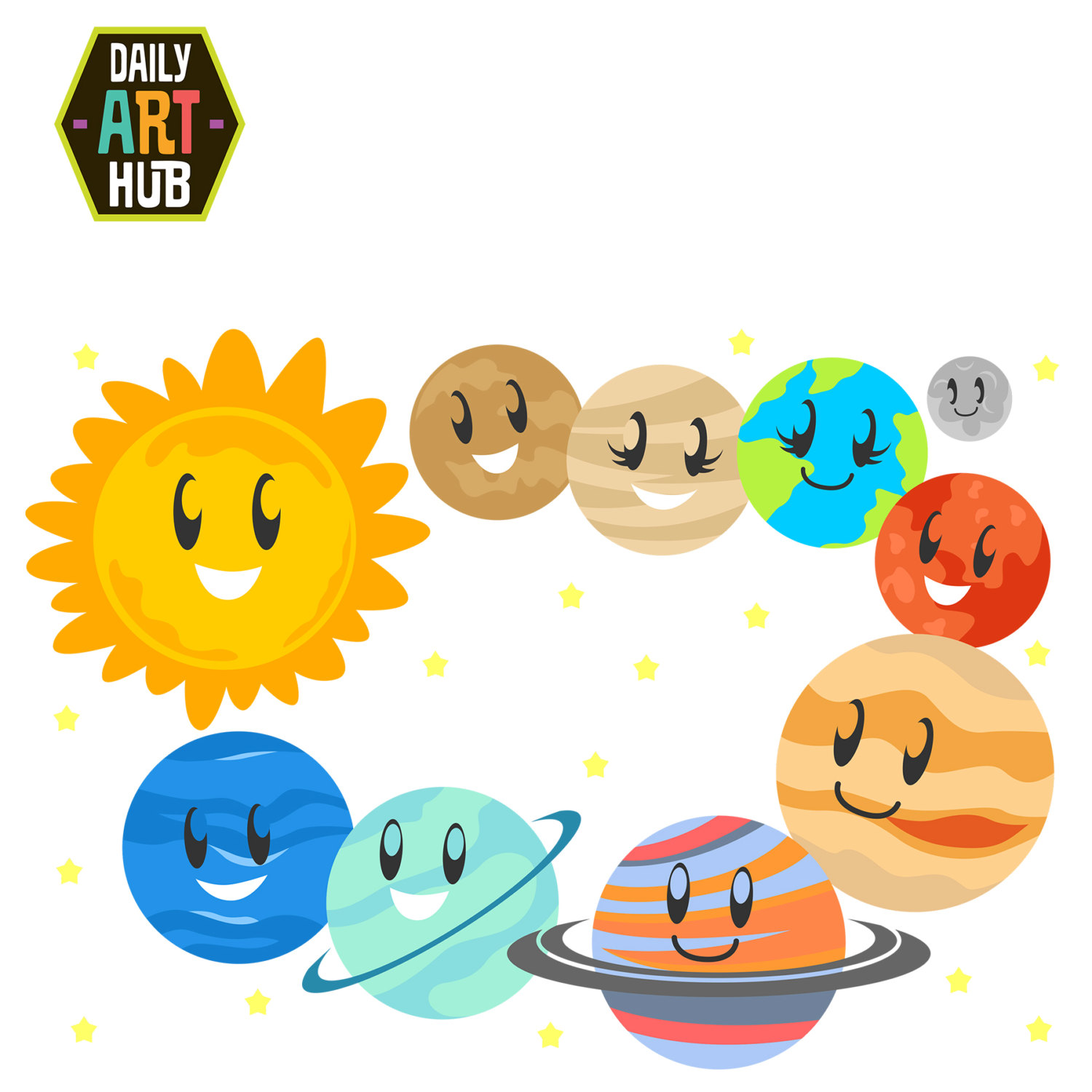 Solar system clip art the cliparts