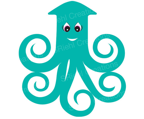 Squid clipart 16