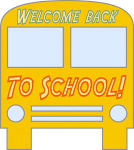 Welcome back to school bus clip art download