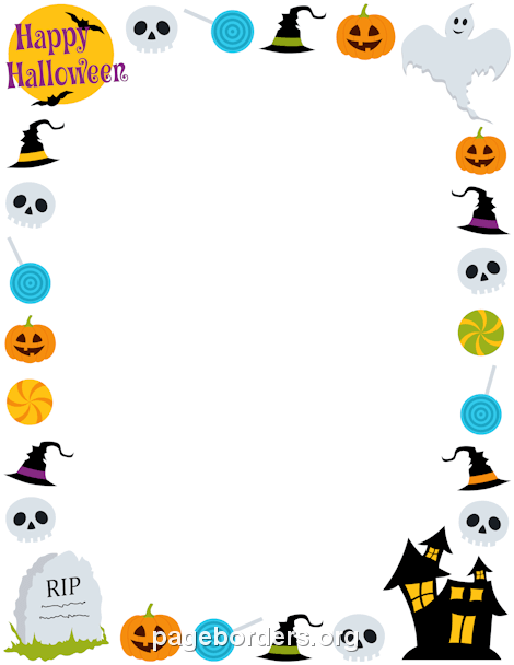 Free halloween borders clip art page and vector graphics
