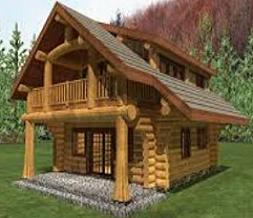 Free log cabin clipart 3
