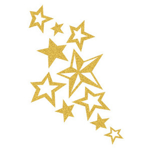 Gold star cluster of stars clipart clipartfest