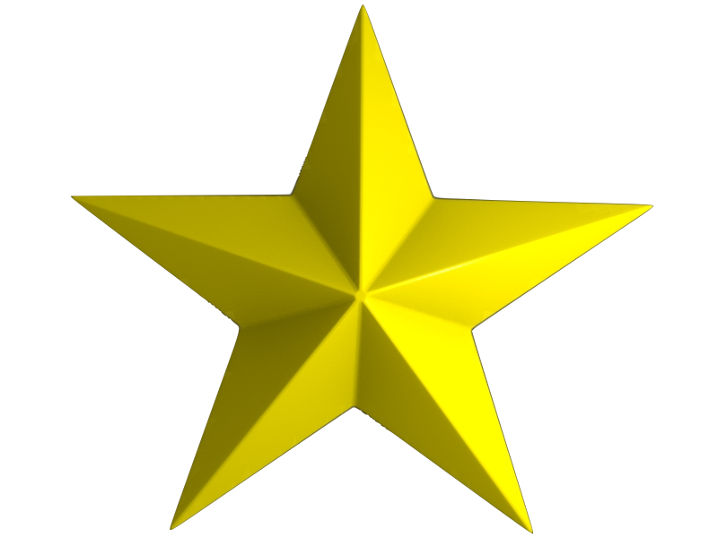 Gold star golden star clipart