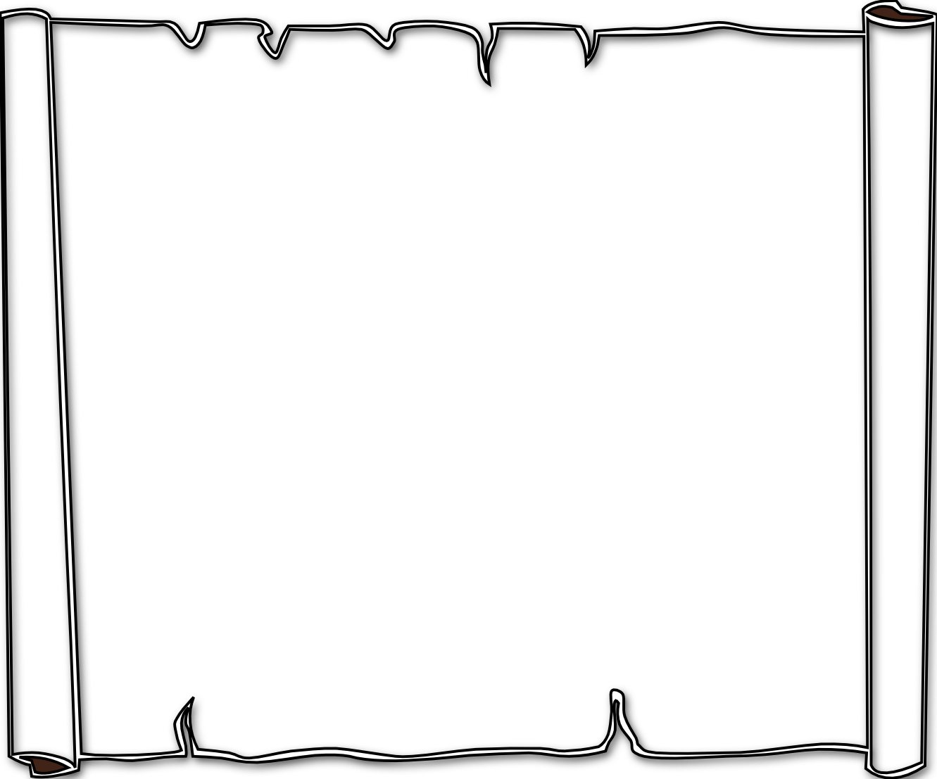 Halloween border borders black and white free download clip art