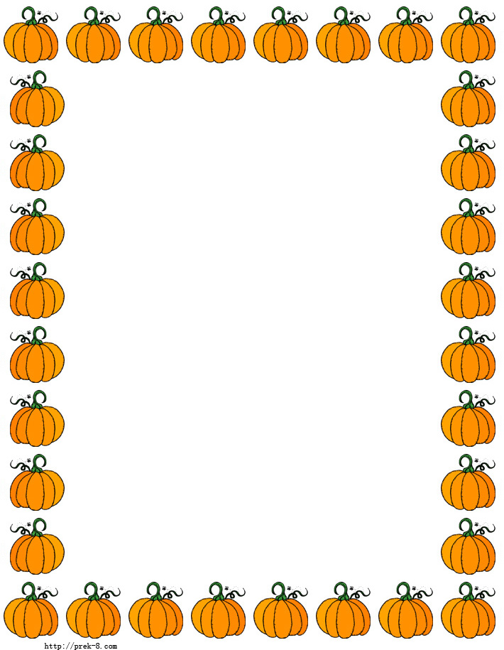 Halloween border fall pumpkin borders clipart