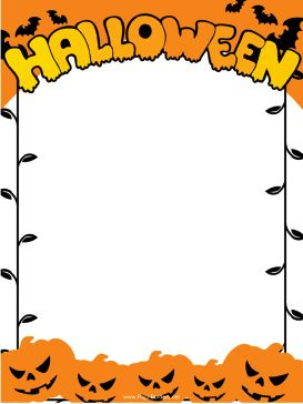 Halloween border images about borders on thanksgiving natal clipart