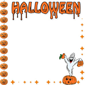 Halloween borders free happy border clip art