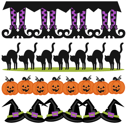 Halloween borders svg scrapbook cut file cute clipart files for