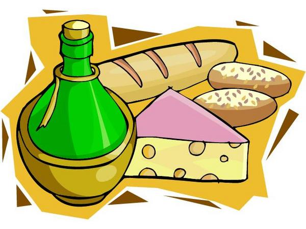 Italian dinner with bread clipart free clipartfox
