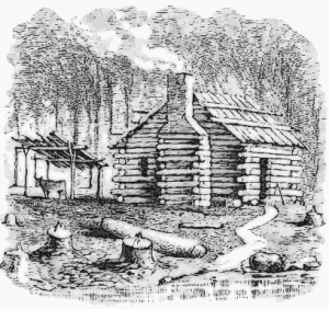 Log cabin clip art download 3