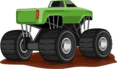 Clipart monster truck stunt - Clipartix