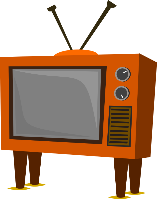 Television retro tv clipart