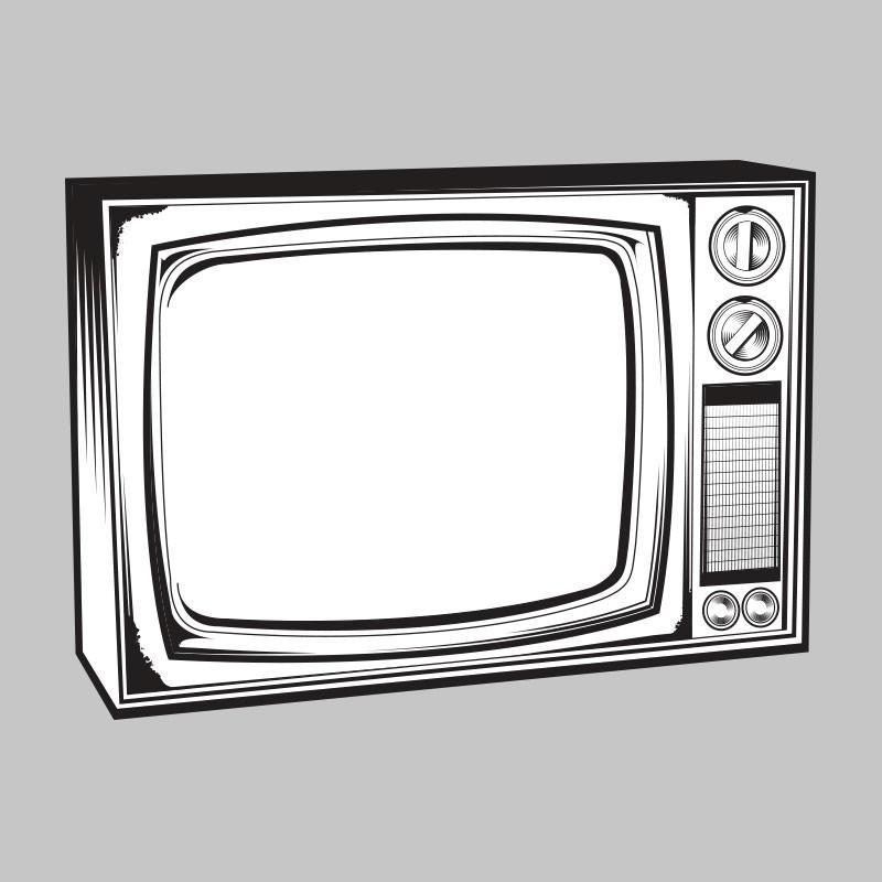 Television vintage tv clipart clipartfest