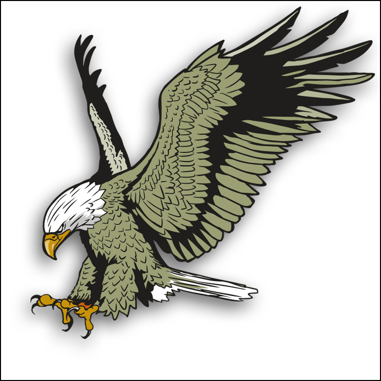 Bald eagle clip art set bald and eagles