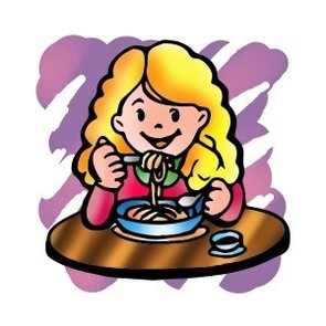 Child eating dinner clipart clipartfest