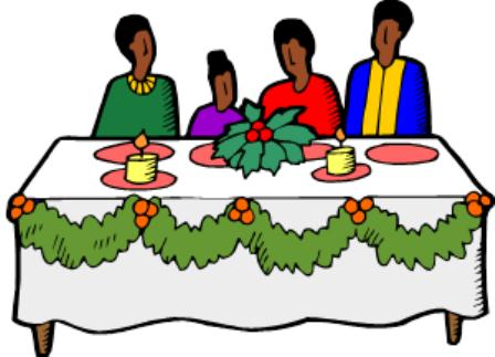 Christmas dinner clipart