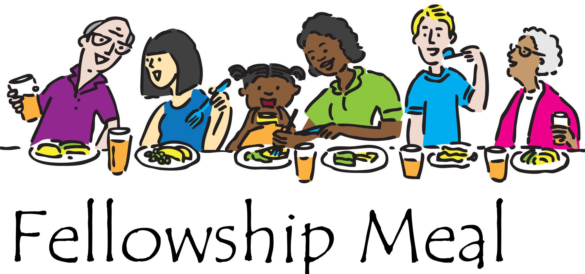 Church fellowship dinner clipart 2