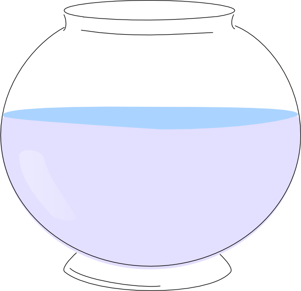 Empty fish bowl clip art at vector clip art