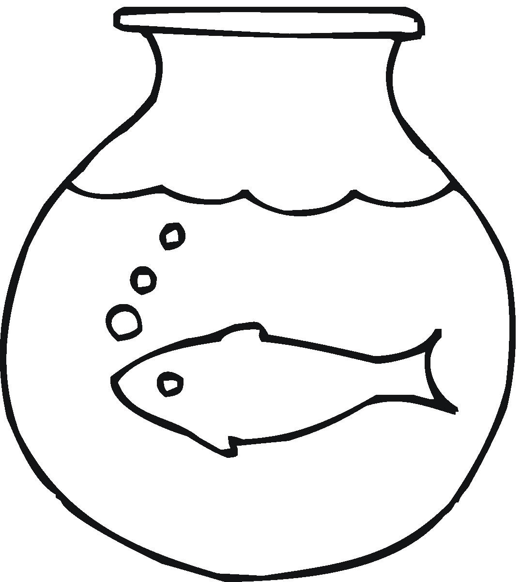 Fish bowl clipart black and white free 3