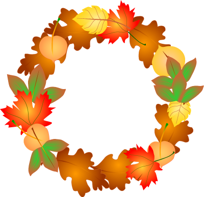 Free fall seasonal fall borders clipart