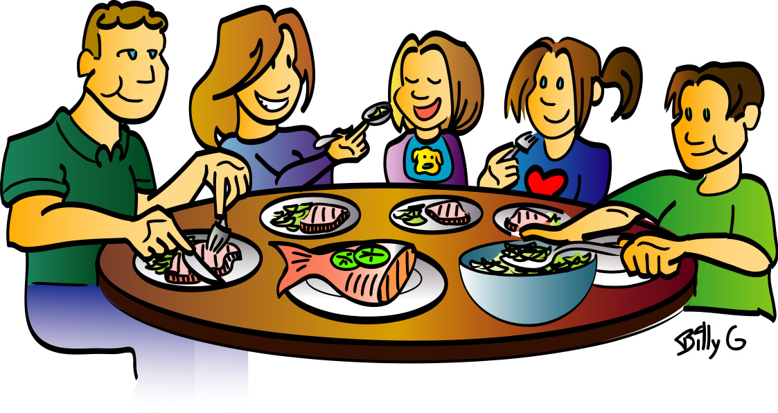 Group dinners clipart 2