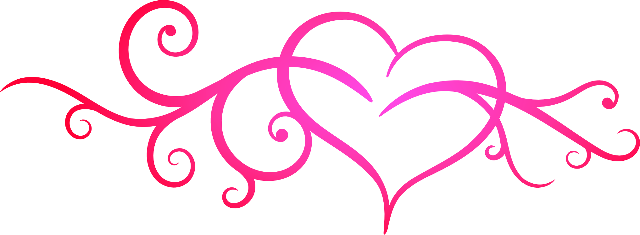 Similiar heart flourish clip art black keywords