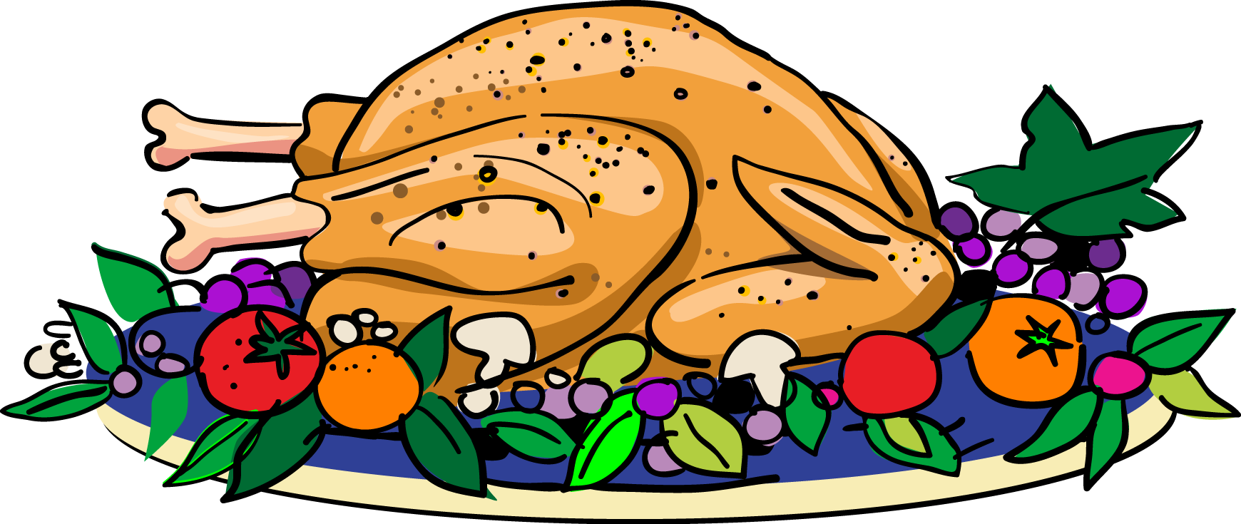 Turkey dinner clipart free images 4