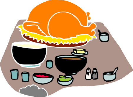Turkey dinner clipart free images 5